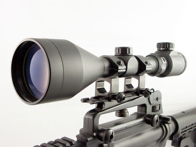 TASCO 3-9x56 Red Green Illuminated Mil-Dot Rifle Scope