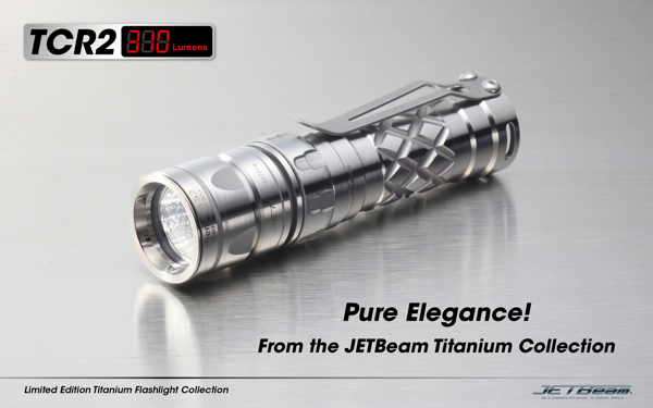 JETBeam TC-R2 Titanium Cree Xp-G S2 Flashlight Limited