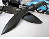 Black Big Scorpion  Kukri bowie Hunitng knife