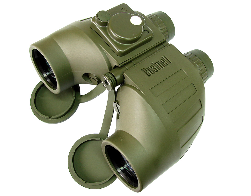 Bushnell Tactical 7x50 Binoculars (Military Binocular w/ built-i