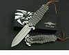 D2 steel  titanium Handle Handmade Hunting Folding Knife #2