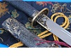Damascus Chinese Qing Dynasty Style Carbon Steel Knife Sword