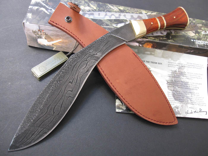 Handmade Damascus Kukri Knife Big bowie