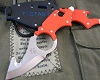 Dogs Multifunction neck knife orange G10 handle