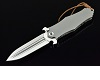 D2 steel  titanium Handle Handmade Hunting Folding Knife