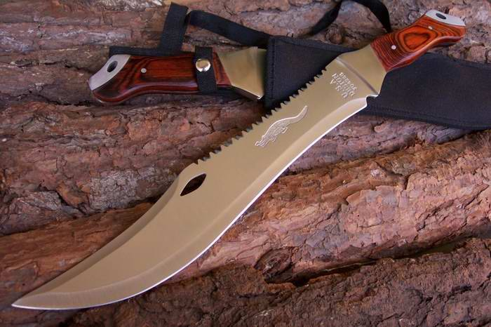 Big crocodile #1Fixed Hunting Knife