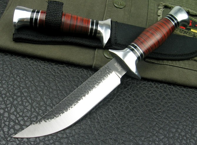 CK01 Cobra Wood handle Junting  knife