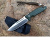 Y-Start Green G-10 Handle Ats-34 Steel  Hunting knife